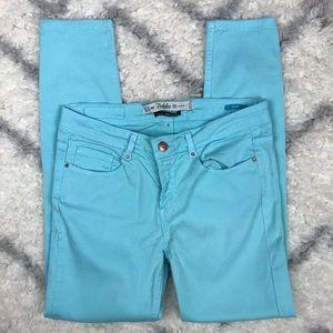Zara Trafaluc blue skinny jeans